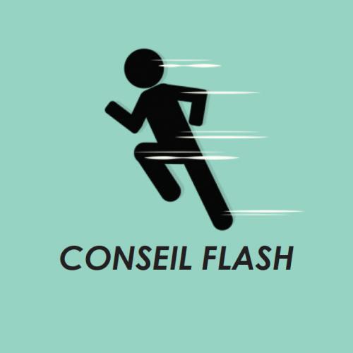 Illustration du conseil flash